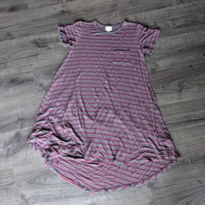 LuLaRoe Carly grey and pink